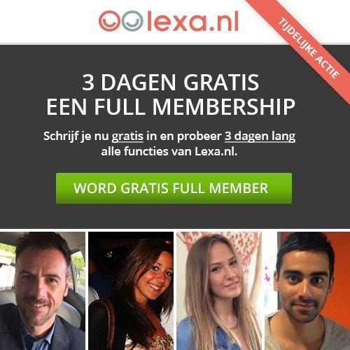 3 dagen gratis full membership lexa